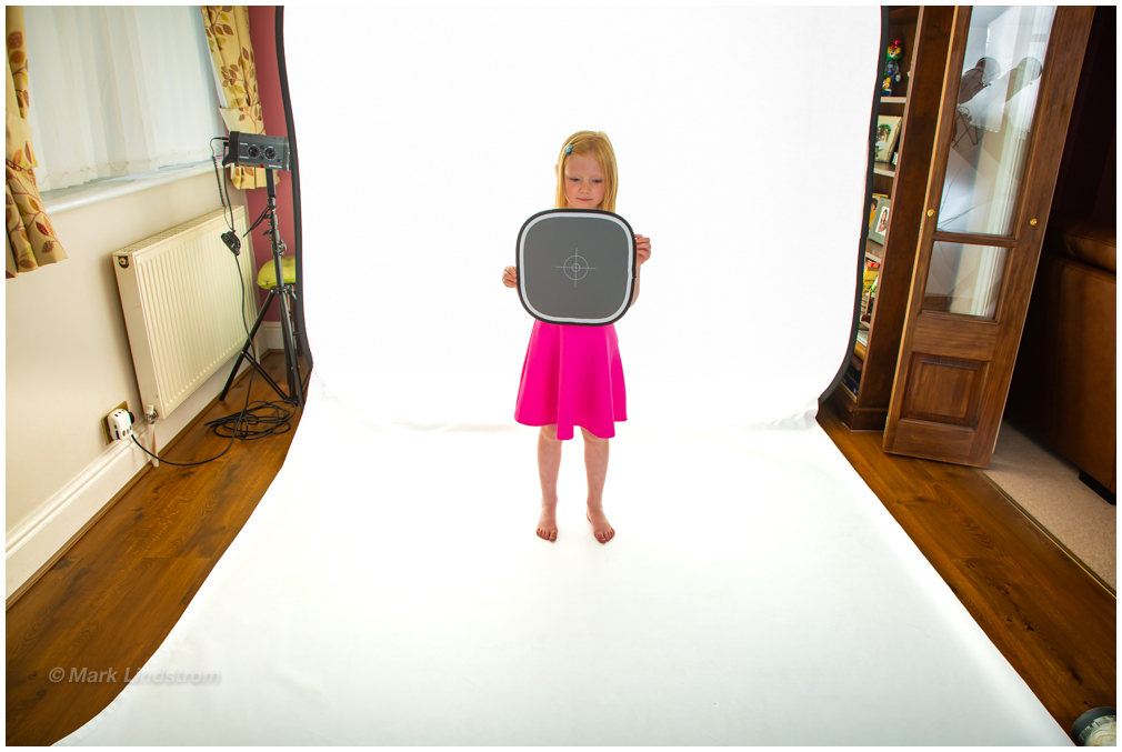 Example of set up used for studio Style Shoot